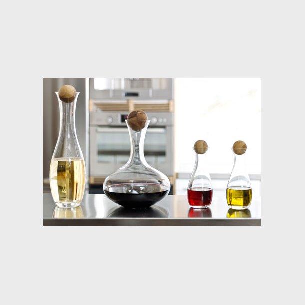 Oval Oak vin- og vandkaraffel